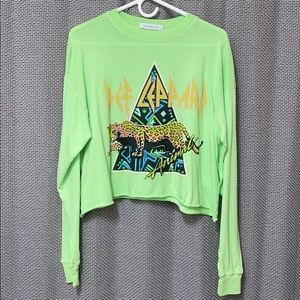 Day Dreamer Crop long sleeve Def Leppard Tee